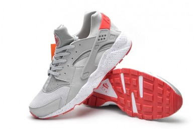 Nike Air Huarache Hellgrau und rote sneakers für Herren