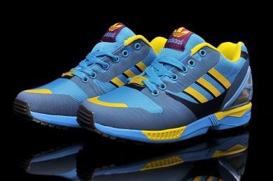 Adidas ZX FLUX für Herren weben DeepSkyblau / cadetblau / gelb Trainer