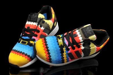 Adidas ZX Flux Regenbogenfarben Trainer schuhe