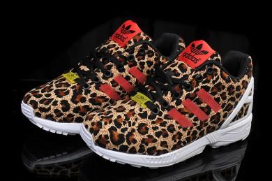 Adidas ZX FLUX damen Leopard / roten schuhe