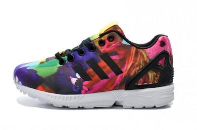 Adidas ZX FLUX damen Pfingstrose Graffiti Trainersneakers