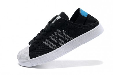 Adidas Superstar Breathe Herren schwarz / weiß / hellblau Trainersneakers