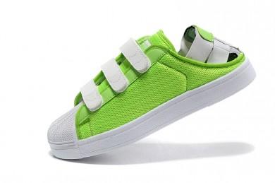 Adidas Superstar Sommer atherrenn herren Lawngrün / weiße sneakers