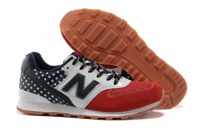 New Balance 996 USA-Marine, Weiß + Rote schuhe der damen