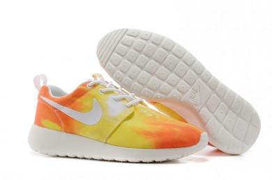 Nike Roshe Run Air 3M Sonnenuntergang / Orange / Gelb damen Trainersneakers