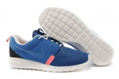 Nike Roshe Run NM BR 3M Armee Blau / Segel weiß / Deep blau / Pink-Trainer-schuhe für Herren