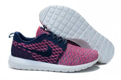 Nike Flyknit Roshe Run schuhe Midnightblau / Schwarz / Rosafür damen