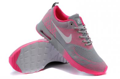 Nike Air Max Thea Grau / heiß pinkdamen Trainersneakers