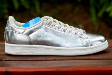 Adidas Stan Smith Luxus Silberfarbe Trainer schuhe