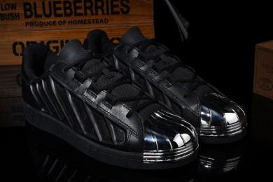 Adidas Superstar-Trainer-schuhe schwarz / silber