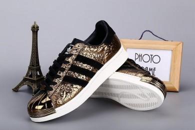 Adidas Superstar 80er Metal Toe schwarz / gold schuhe