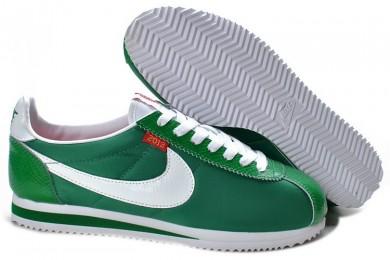 Nike Classic Cortez Nylon Grün Weiß Trainer sneakers für Herren