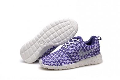 Nike Roshe Run Triangles Lila / Weiß für damen Trainer