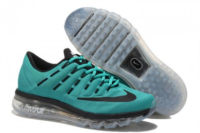 Nike Air Max 2016 Dunkle Cyan / Schwarz Trainersneakers