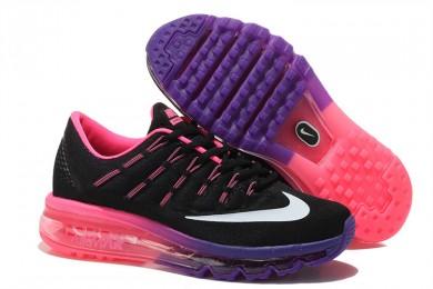 Nike Air Max 2016 Schwarz / weiß / lila / Pinkdamen Trainer