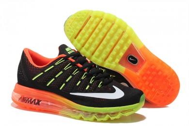 Nike Air Max 2016 Fluorescent gelb / schwarz / weiß / orange sneakers schuhe