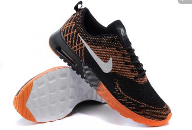Nike Air Max sneakers Thea Schwarz / Orange / Weiß für Herren