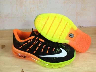 Nike Air Max 2016 Trainer sneakers Orange / Schwarz / Weiß / Grün Fluoreszierende für Herren