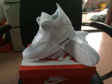 Nike Air Max 90 Hightop beige sneakers