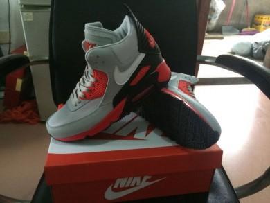 Nike Air Max 90 Hightop grau-rote schuhe