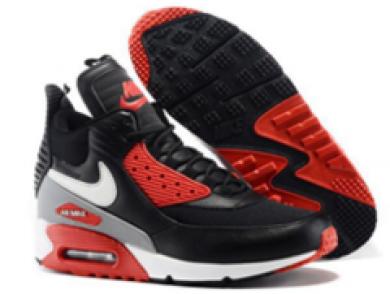 Nike Air Max 90 Hightop schwarze rote schuhe