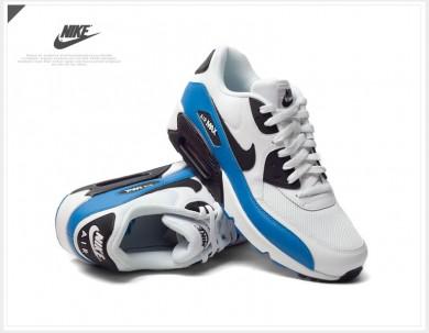 Nike Air Max 90 Essential Trainingsanzüge weiß-royal blau-schwarz