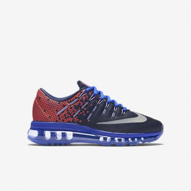 Nike Air Max 2016 Print Obsidian / leicht purpurnen / Racer Blau / Reflektieren Silber Trainersneakers