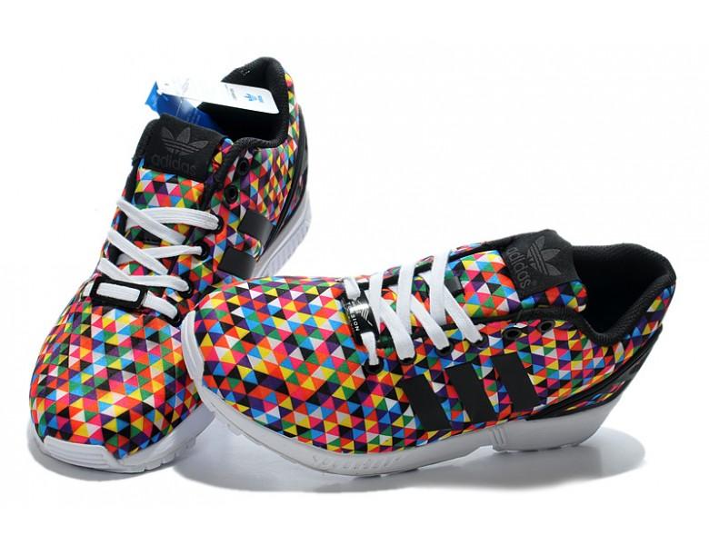 billig Adidas ZX FLUX Regenbogen Prisma schuhe de