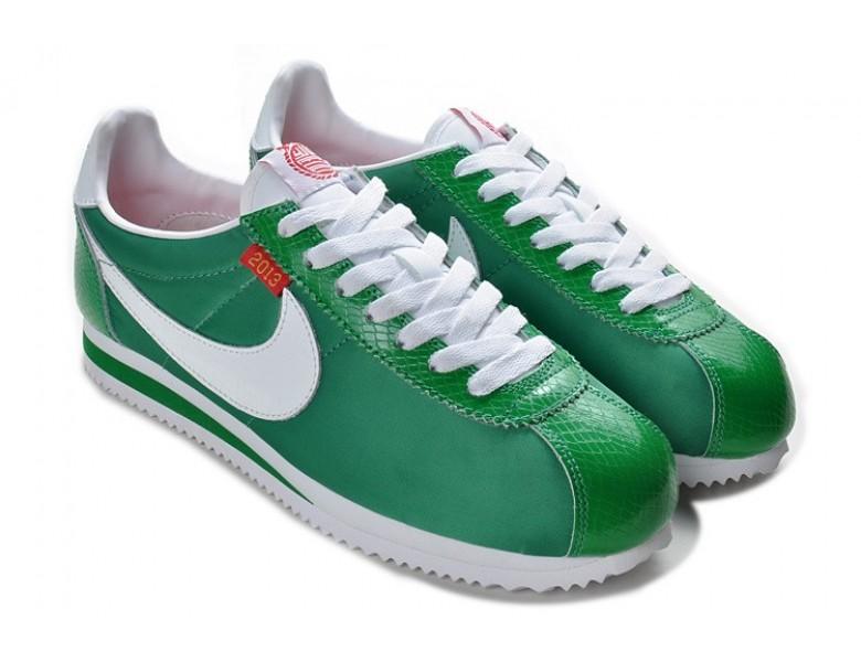 Nike Classic Cortez Nylon Grün Weiß Trainersneakers für